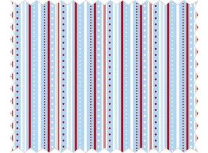 Tante Ema Cotton fabric: strip game, azure