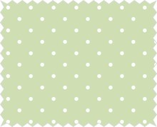 Tante Ema Cotton fabric: good luck charm, lime green