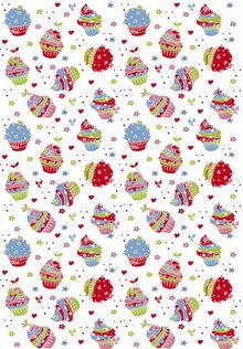 Tante Ema Cotton fabric: Sugar Tart classical red,