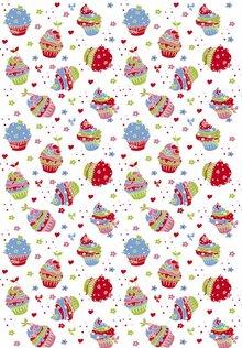 Tante Ema Tela de algodón: Sugar Tart rojo clásico,