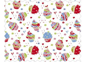 Tante Ema Cotton fabric: Sugar Tart Classic Red,