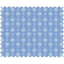 Tela de algodón: guirnalda del corazón, el cielo azul