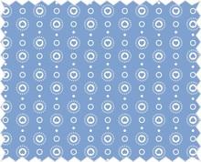 Tante Ema Tessuto di cotone: Ghirlanda del cuore, cielo blu