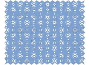 Tante Ema Cotton fabric: Heart garland, sky blue