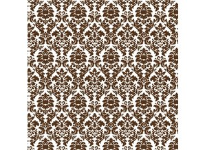 Designer Papier Scrapbooking: 30,5 x 30,5 cm Papier Carta Scrapbooking: Brown Damasco