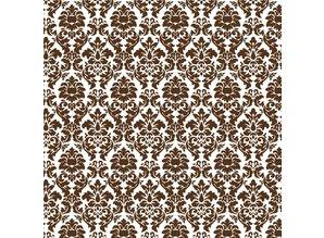 Designer Papier Scrapbooking: 30,5 x 30,5 cm Papier Scrapbooking paper: Brown Damask
