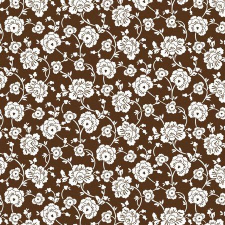Designer Papier Scrapbooking: 30,5 x 30,5 cm Papier Scrapbooking-Papier:Brown Floral