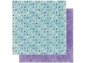 Designer Papier Scrapbooking: 30,5 x 30,5 cm Papier Scrapbooking Paper: Winter joy dot