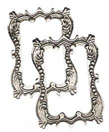"""Embellishments / Verzierungen Metal-frame """"romance"""" 7.0 x 5.0 cm"""