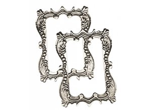 "Embellishments / Verzierungen Metall-Rahmen ""Romantik""  7,0 x 5,0 cm"