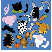 Scrapbooking de papel: animal Stanzbogen cabezas