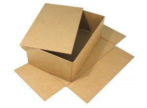 Tante Ema Stor papmaché kasse med separat låg, 19,5x33x11 cm