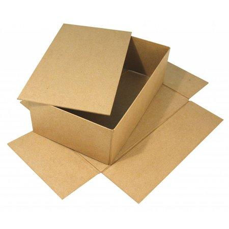 Tante Ema Große Pappmaché Box mit separater Deckel, 19,5x33x11 cm