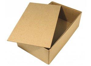 Tante Ema Large papier-mâché box with separate lid, 19,5x33x11 cm