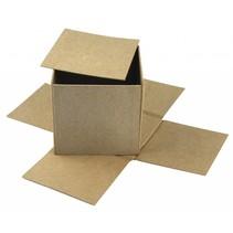 Caja de papel mache Cúbreme