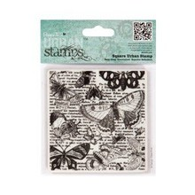 Docrafts / Papermania / Urban Square Urban Stamp - Lepidopterology9.5x9cm