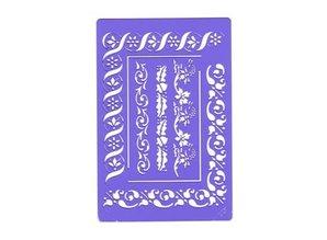Schablonen, für verschiedene Techniken / Templates Border beauty stencil - bloemenmix, template Nr.BE03FL by Crafts Too