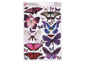 Embellishments / Verzierungen Farfalle, timbrato su foglio A4