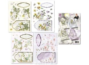 "BASTELSETS / CRAFT KITS: Floral card set of ""Staf Wesenbeek"""
