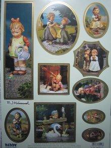 """BILDER / PICTURES: Studio Light, Staf Wesenbeek, Willem Haenraets Stanzbogen: """"M.I. HUMMEL"""", 1 Bogen A4 mit verschiedenen Motiven"""