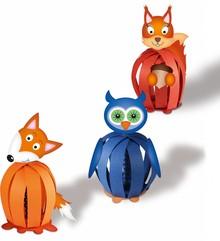 """Kinder Bastelsets / Kids Craft Kits Funny Paper Balls, """"Forest Animals"""""""