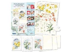 """BASTELSETS / CRAFT KITS: 3D Bastelset blomst cards """"Flower Magic"""" af Franz Heigl,"""