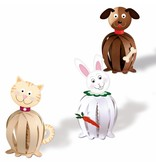 """Kinder Bastelsets / Kids Craft Kits Funny papirkugler, """"kæledyr"""""""