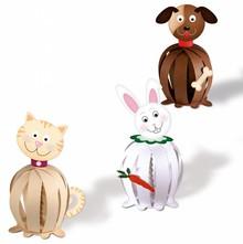 "Kinder Bastelsets / Kids Craft Kits Divertente palle di carta, ""Animali domestici"""