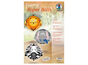 """Kinder Bastelsets / Kids Craft Kits Funny Paper Balls, """"wildlife"""""""