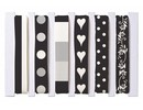 DEKOBAND / RIBBONS / RUBANS ... Bands mix, black / white