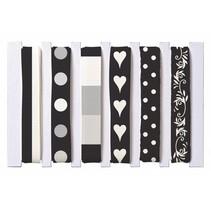 Bändermischung, schwarz/weiß