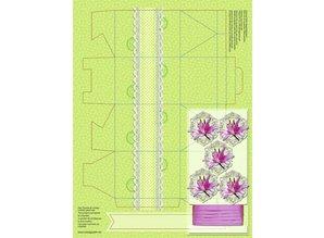 """Dekoration Schachtel Gestalten / Boxe ... Papir æsker, """"Fancy Flowers"""""""