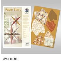 """Paper Stars, """"Lounge"""", Set für 6 Sterne."""