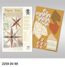 """Dekoration Schachtel Gestalten / Boxe ... Paper Stars, """"Lounge"""", set for 6 star."""