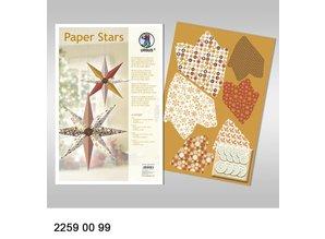 """Dekoration Schachtel Gestalten / Boxe ... Estrellas de papel, """"Salón"""", establecidos para 6 estrellas."""