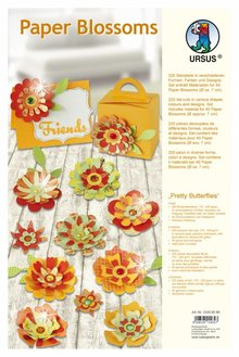 """Dekoration Schachtel Gestalten / Boxe ... Papir Blossoms, """"Smukke Butterflies"""", d = 7cm"""