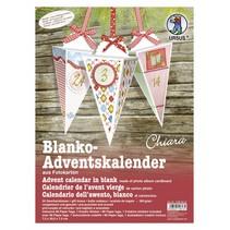 Blank Jul strømper, der skal tilpasses, 24 gaveæsker