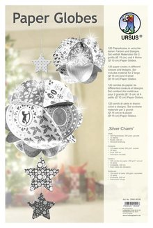"""Dekoration Schachtel Gestalten / Boxe ... Paper Globes, """"Silver Charm"""""""