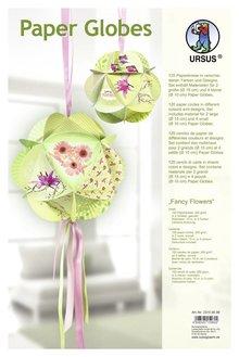 """Dekoration Schachtel Gestalten / Boxe ... Paper Globes, """"Fancy Flowers"""""""