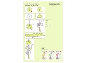"Dekoration Schachtel Gestalten / Boxe ... Papir Globes, ""Fancy Flowers"""