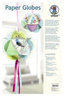 "Dekoration Schachtel Gestalten / Boxe ... Globi di carta, ""Lovely Uccelli"""