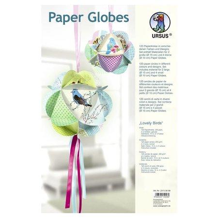 "Dekoration Schachtel Gestalten / Boxe ... Papir Globes, ""Dejlige fugle"""