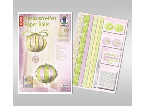 """Dekoration Schachtel Gestalten / Boxe ... Bastelpackung: Paper Balls, """"Charlotte"""""""