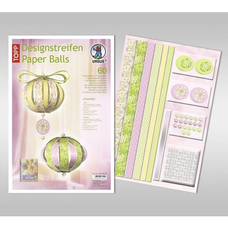 """Dekoration Schachtel Gestalten / Boxe ... Bastelpackung: papirkugler, """"Charlotte"""""""
