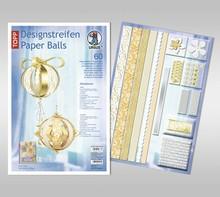 """Dekoration Schachtel Gestalten / Boxe ... Paper Balls, """"Madeleine"""" design strips"""