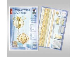 "Dekoration Schachtel Gestalten / Boxe ... Bolas de papel, ""Madeleine"" tiras de diseño"