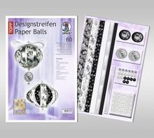 """Dekoration Schachtel Gestalten / Boxe ... Paper Balls, """"Audrey"""" design strips"""