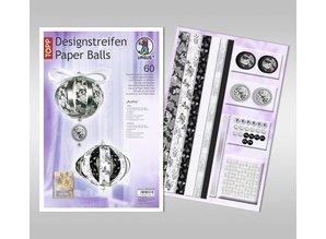 "Dekoration Schachtel Gestalten / Boxe ... Bolas de papel, ""Audrey"" tiras de diseño"