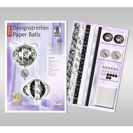"""Dekoration Schachtel Gestalten / Boxe ... Paper Balls,""""Audrey"""" Designstreifen,"""