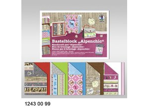 "DESIGNER BLÖCKE  / DESIGNER PAPER Bastelblock ""Alpenchic"", Block = 16 Blatt,"